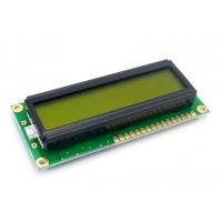Display LCD 16x01 Verde com Luz de Fundo (Back Light) WH-1601A-YYH-JTK