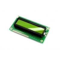 Display LCD 16x02 Verde com Luz de Fundo (Back Light) WH-1602A-YYH-JTK
